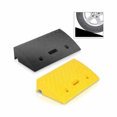 Pyle PCRBDR27 2PC Lightweight Portable Plastic Curb Car Ramps