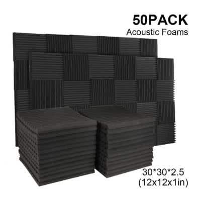 Burdurry 50 Pack Soundproof Studio Foam
