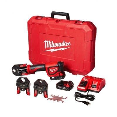 Milwaukee 2674-22C Throw Press Tool Kit PEX Crimp Jaws