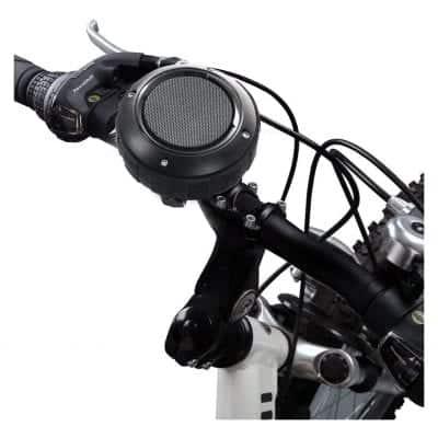 Kunodi Bluetooth Travel Bike Speaker (Black and Bracket)