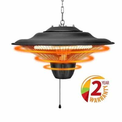 Air Choice Outdoor Patio Heater with Overheat Protection
