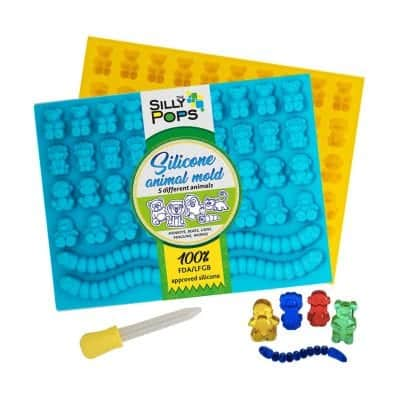 The Silly Pops Gummy Bear Mold BPA Silicone