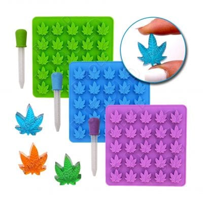 The PJ Bold Gummy Leaf Silicone Candy Mold Party Novelty Gift