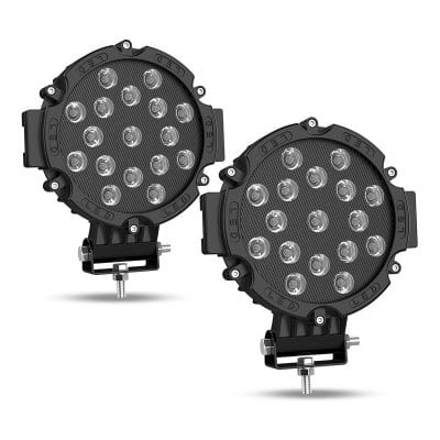 """AUTOSAVER88 2PACK 7"""" Round LED Offroad Pod Lights"""
