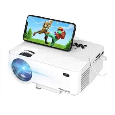 TOP VISION Mini Projector with Synchronize Smartphone Screen