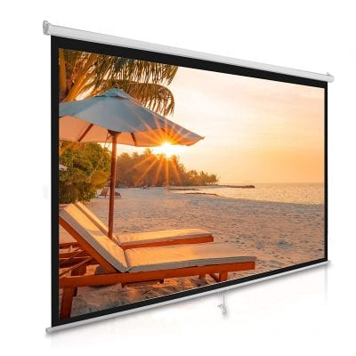 Pyle Manual 100-inch Pull Down Projector Screen