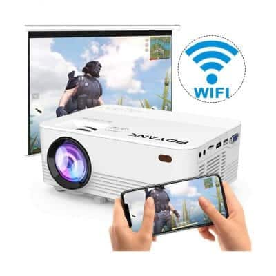 POYANK 4500 Lux LED Upgrade Wi-Fi Projector