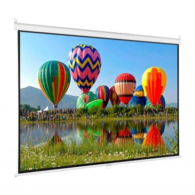 Vivo 80 inch HD Projection Pull Down Projector Screen