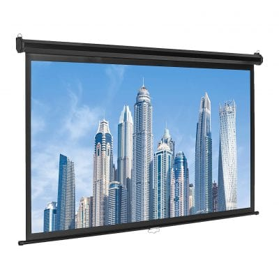 AmazonBasics 16:980 Inch Pull Down Projector Screen