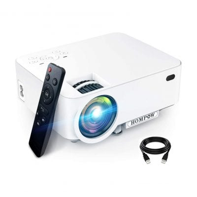 HOMPOW Mini Projector 3600L Smartphone Portable Video Projector