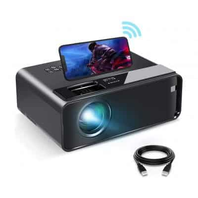 ELEPHAS Mini Projector for iPhone with Synchronize Smartphone Screen