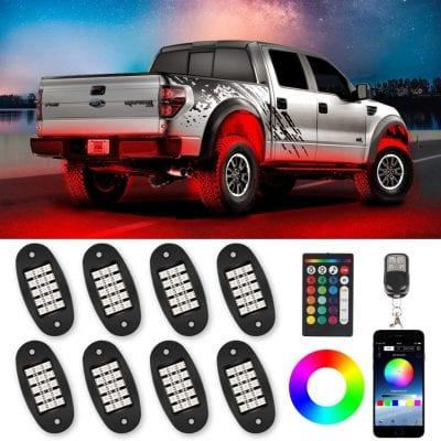 Tachico 8 Pods Remote Control Neon Rock Lights