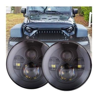 BICYACOHigh Low Beam 90W 7 Inch Round LED Headlight