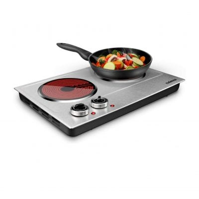 CUSIMAX 1800W Dual Control Infrared Electric Hot Plate