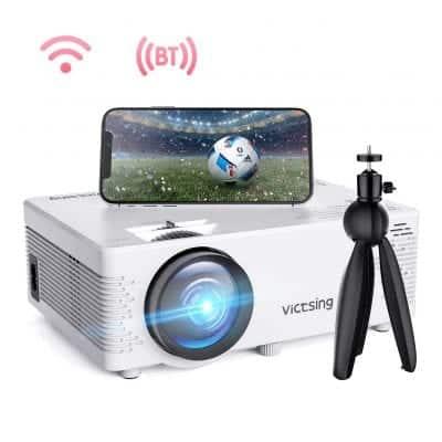 VisTsing Wi-Fi Projector 4200L Wireless Bluetooth Mini Projector with Tripod