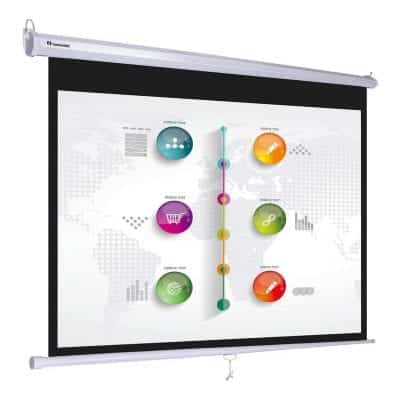 "Instahibit 16:9 72"" Self-Locking Pull Down Projector Screen"
