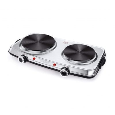 SUNAVO 1800W Electric Double Burner Hot Plates for Cooking