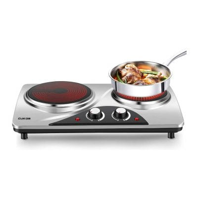 CUKOR, 1800W Portable7.1 Inch Double Electric Hot Plate