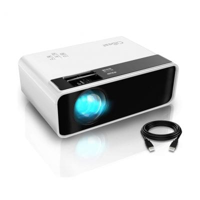 CiBest Mini Projector Video Outdoor Movie 4500 lux LED portable Home Theatre Projector