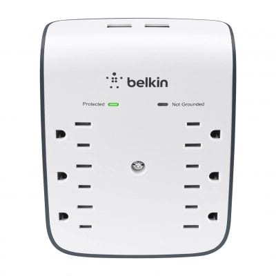Belkin 6-Outlet Surge Protector - Ideal for Mobile Devices (900 Joules)