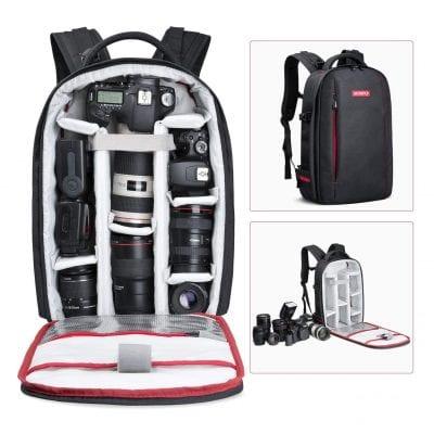 Beschoi Waterproof SLR/DSLR Camera Backpack Black (Large)