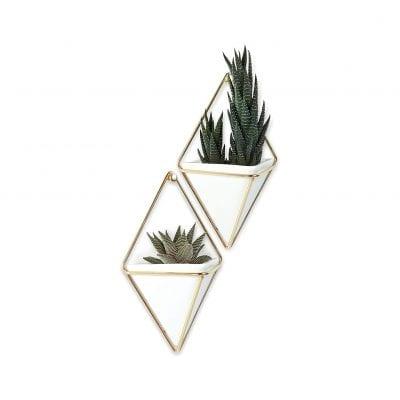 Umbra Trigg Hanging Planter Vase and Geometric Wall Decor