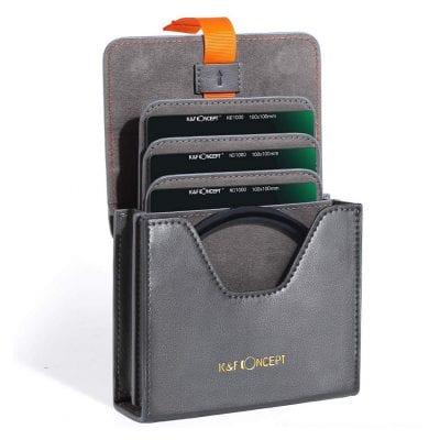 K&F Concept Lens Filter Case Leather Carrying Case
