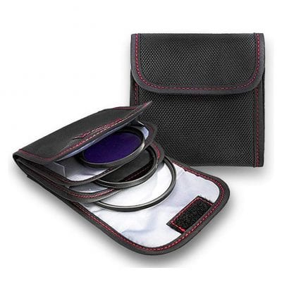 DomeStar Filter Case 2 Pieces with 3 Pockets Lens Filter Cases