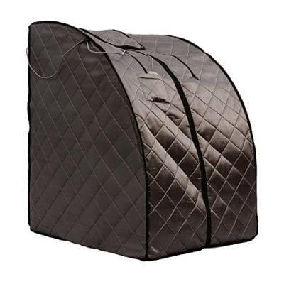 Radiant Saunas Rejuvenator Canvas Chair Portable Personal Sauna with Heated Floor Pad