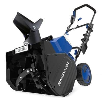 The Snow Joe SB18 Cordless Snow Blower
