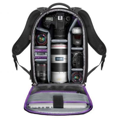 Altura Photo Camera Backpack for Canon Sony Nikon DSLR and Mirrorless camera- Large Capacity Bag Black