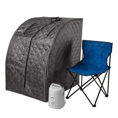Durasage Portable Lightweight Personal Relaxation Steam Sauna Spa- Gray