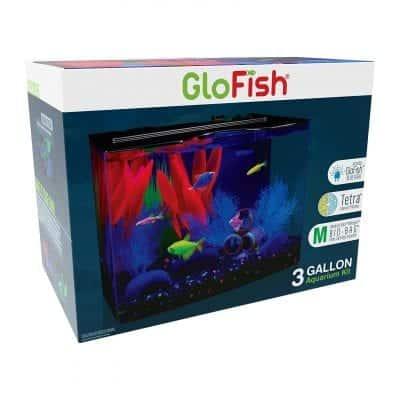GloFish Aquarium Kit With Hood, Whisper Filter, and LED Lights