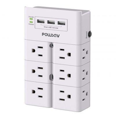 POWSAV Multi-Plug Outlet, ETL Listed