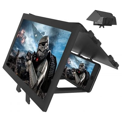 LAIKETE 12-inch 3D Phone Screen Magnifier with a Foldable Holder Stand