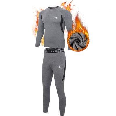 MEETYOO Men's Thermal Underwear for Skiing and Running