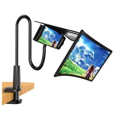 """WANTU 12"""" Phone Screen Magnifier with an Adjustable Clamp Stand"""