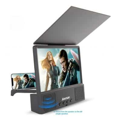 Jteman 5-in-1 3D Phone Screen Magnifier (Black)