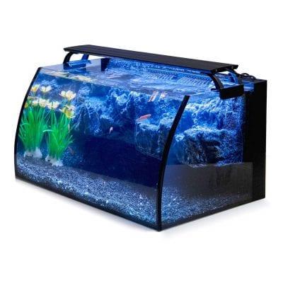 Hygger Horizon 18W LED Glass 8 Gallon Aquarium Kit with Background Decor