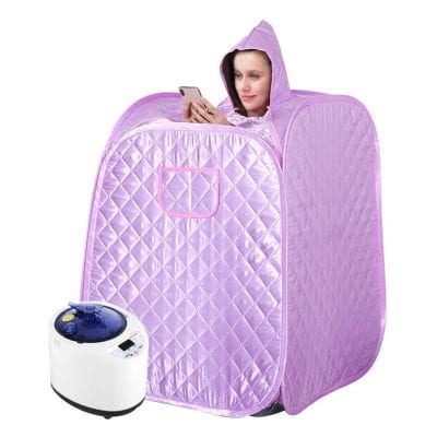 KKTECT Portable Foldable Sauna Tent with Remote Control for Household Use