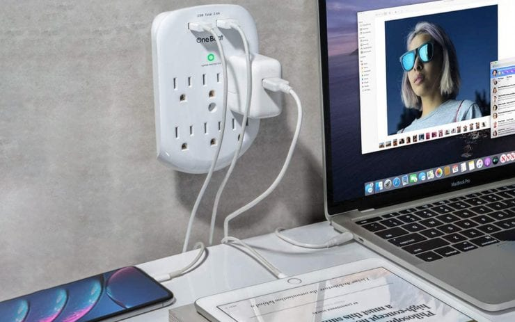 Wall Surge Protector with USB Ports