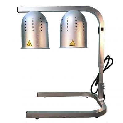 Avantco Portable 2-Bulb Free-Standing Heat Lamp