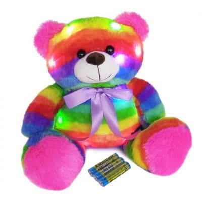 The Noodley Light Up Teddy Bear 16 Inches LED Plush Toy