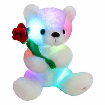 Houwsbaby Glow Teddy Bear with Rose