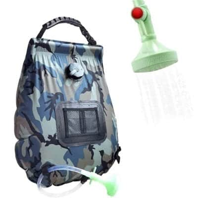MOONATURE Portable 5 Gallons Camping Solar Shower Bag