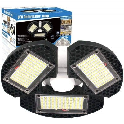 ZJOJO 60w Deformable LED Garage Lights