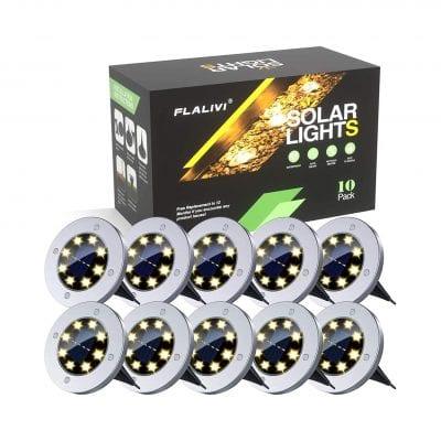Nlplnr Waterproof Solar Ground Lights,
