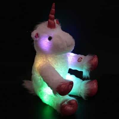 WEWILL LED Colorful Stuffed Animal 16 Inches Teddy Bear