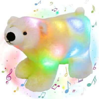 Glow Guards Musical Light Up Stuffed Teddy Bear 12 Inches