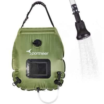 Sportneer 20L/5 Gallon Solar Shower Bag for Summer Camping Hiking